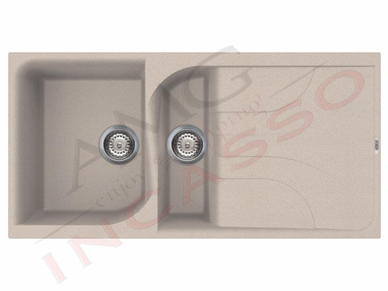 lavello elleci ego 475 lge47551 1 vasca con gocciolatoio granitek g51 avena garanzia anni 10. Black Bedroom Furniture Sets. Home Design Ideas