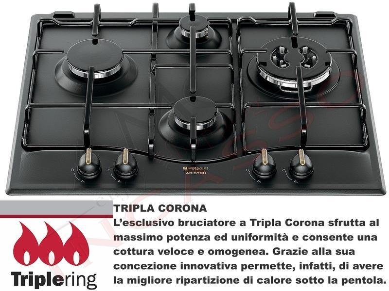 Piano Cottura Cucina Tradizione 4 Fuochi Gas cm.60 Antracite [Ex PC ...
