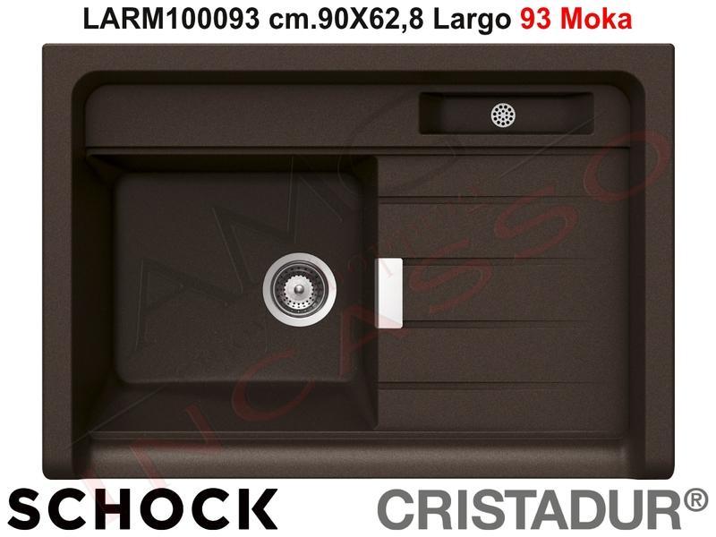 Lavello Cucina Largo Appoggio cm.90X62,8 1 Vasca Moka | AMG incasso ...