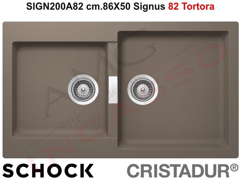 Lavello Cucina Signus cm.86X50 2 Vasche Tortora | AMG incasso ...
