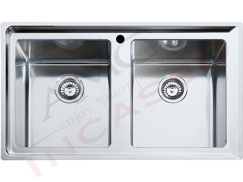 Lavello franke neptune plus npx 620 2v acciao inox - Lavelli da incasso per cucina ...