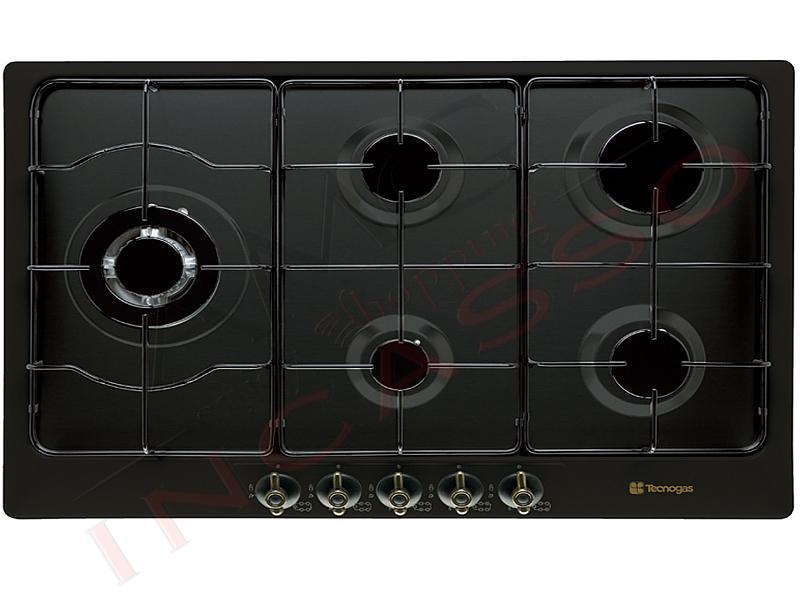 Piano cottura 90 tecno f95vb 5 fuochi tripla griglie - Valvola sicurezza piano cottura ...