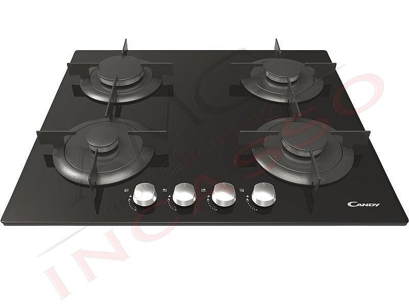 Piano Cottura Candy CVG64SPNX 4 fuochi cristallo temperato nero ...