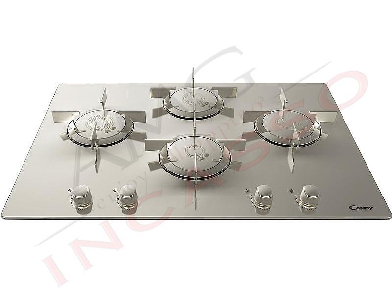 Piano Cottura Candy CFX 74 4 fuochi Elite Griglie in acciaio inox ...