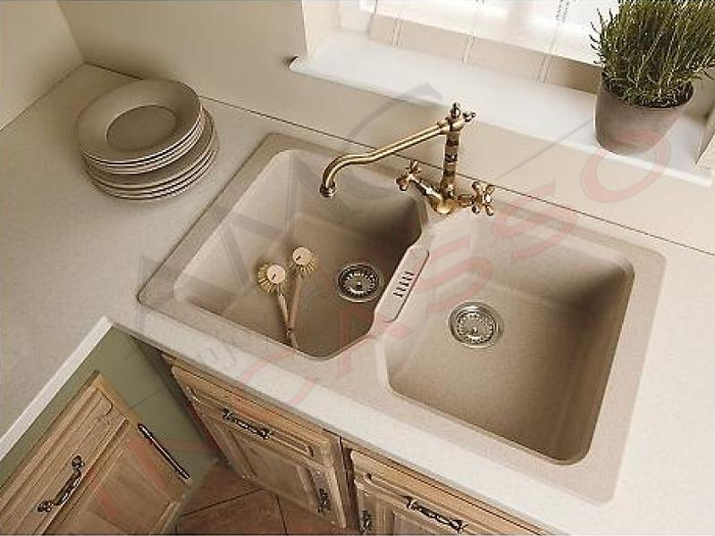 Lavello cucina bahia 2 vasche fragranite avena amg incasso elettrodomestici da incasso - Vasca cucina fragranite ...