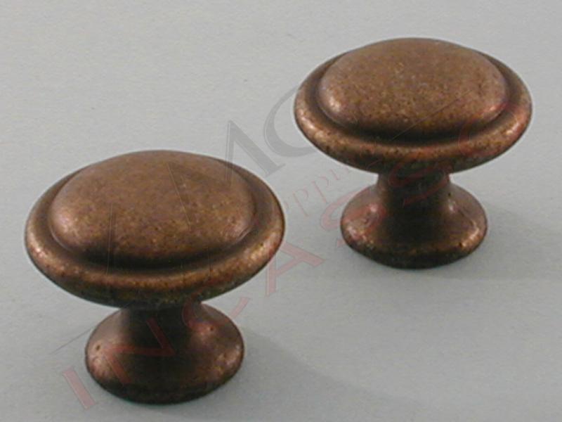 Maniglia pomello pomolo cominfer ottone antico - Pomelli per mobili cucina ...