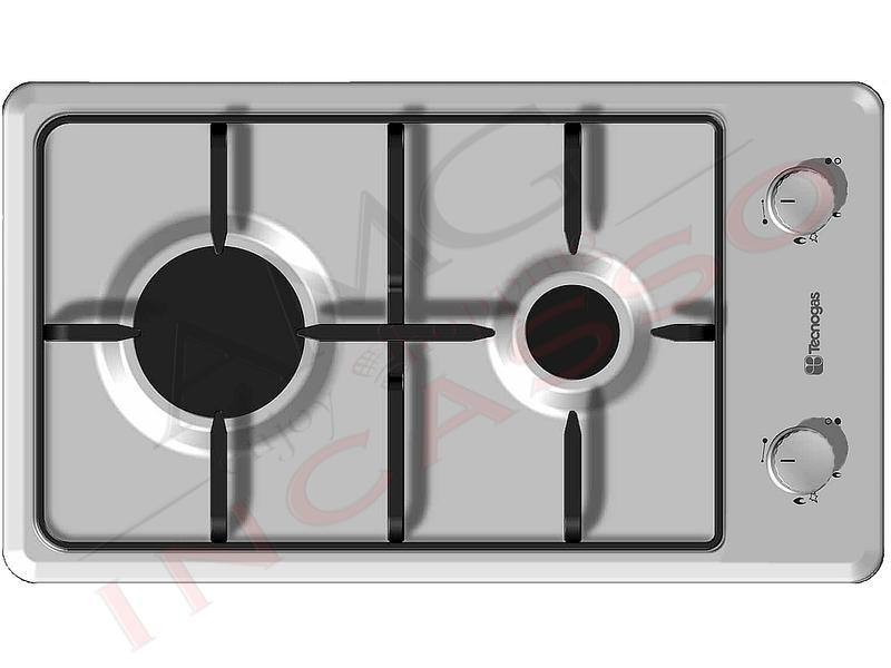 Piano cottura 30 tecnogas f32vx 2 fuochi a gas griglie - Valvola sicurezza piano cottura ...