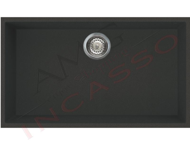 Lavello Elleci Quadra 130 Sottotop LMQ13079BSO 76X44 1 V.Metaltek® M79 Aluminium