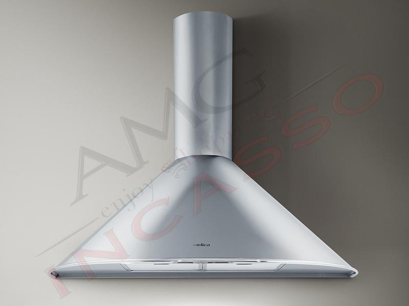 Cappa Elica TONDA IX F/60 cm. 60 incasso cucina Acciaio inox Comando ...