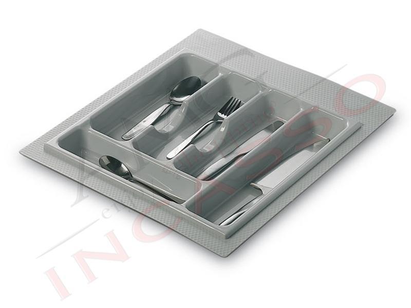 Portaposate Per Cassettiera Da 90 Cm.Portaposate Inoxa 98 45 Pvc Grigio Rifilabile Per Cassetto Da Cm 45
