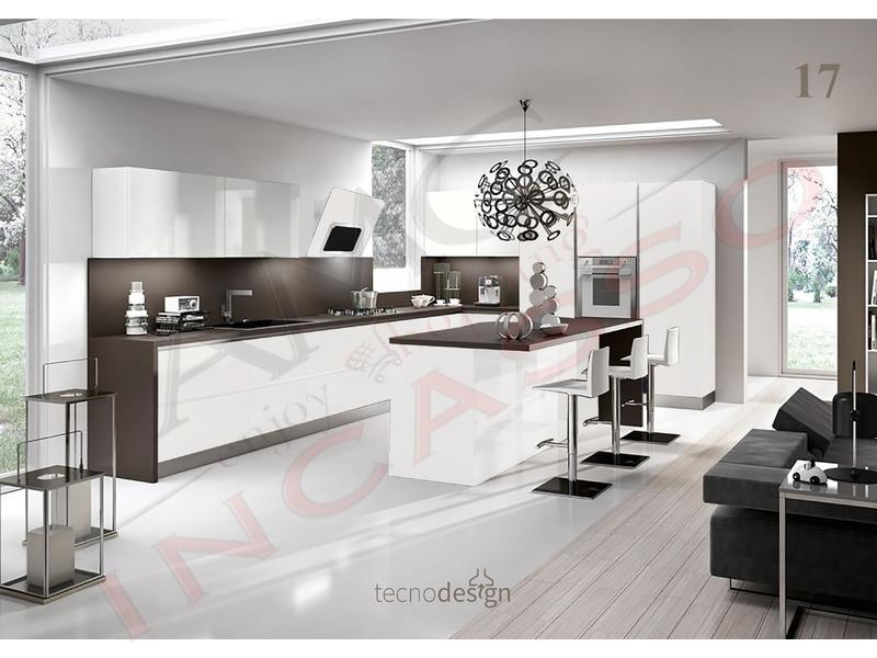 Cappa Cucina Moderna 80 TD018BC Grace Plus Inox-Vetro Bianco ...