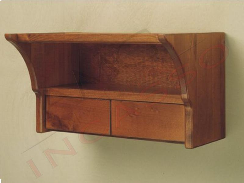 Cassettiere In Legno Grezzo.Sottopensile Con Cassetti 45 Legno Grezzo Incasso Cucina Larghezza Cm 45