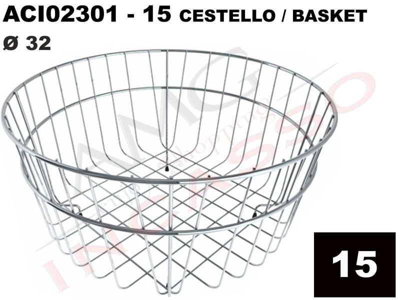 Accessorio 15 Elleci ACI02301 Cestello Rotondo Acciaio Ø 32 Easy ...