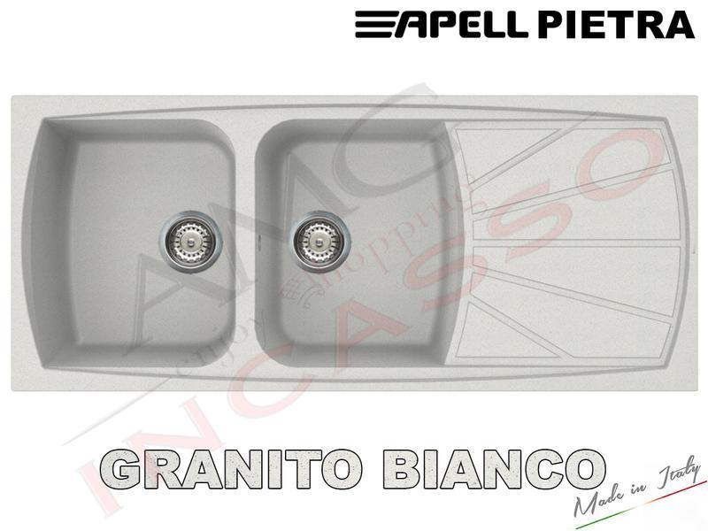 Lavelli Cucina In Granito.Lavello Cucina Pietra 2 Vasche Cm 116x50 Fragranite Avena Amg