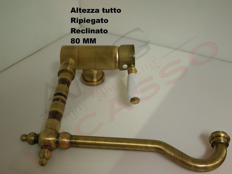 Miscelatore rubinetto argo 2471p 10u bari ottone bronzo - Rubinetto cucina pieghevole ...
