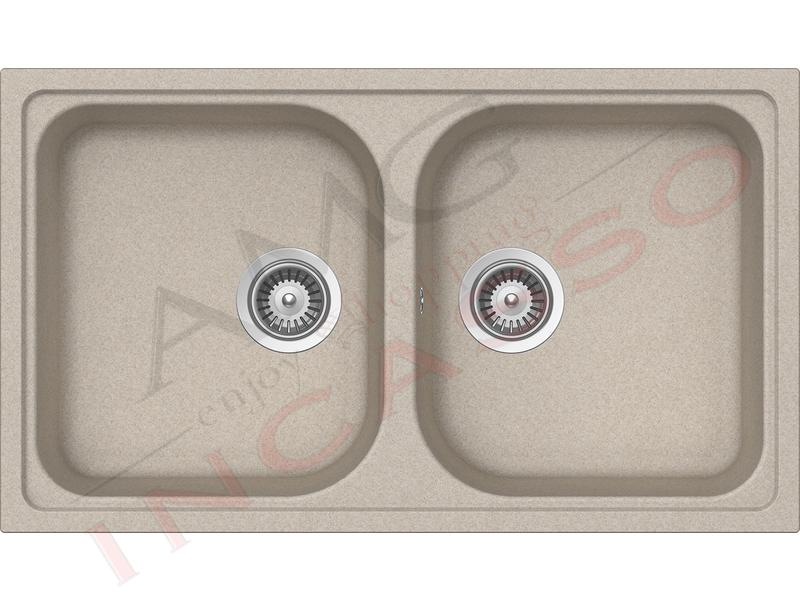 Lavello Cucina In Fragranite.Lavello Cucina 2 Vasche Pietra Plus Fragranite Cm 86x50 Avena Amg