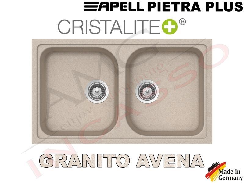 Lavello Cucina 2 Vasche Pietra Plus Fragranite cm.86x50 Avena | AMG ...