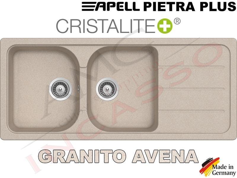Lavello Cucina 2 Vasche Pietra Plus Fragranite cm.116x50 Avena | AMG ...
