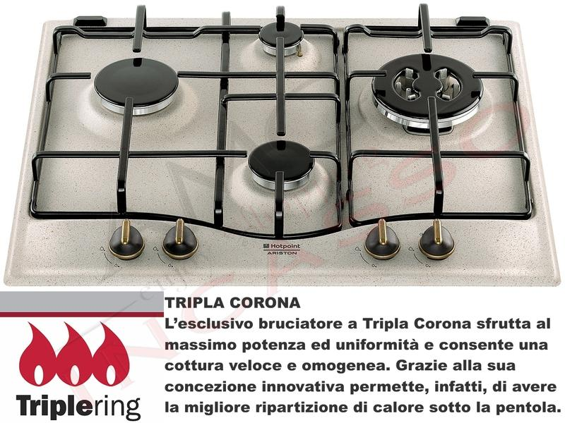 Piano Cottura Incasso Cucina Hotpoint PC 640 T (AV) R/HA 4 Fuochi ...