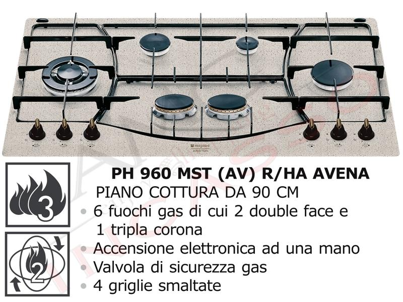 Piano Cottura Cucina Tradizione 6 Fuochi Gas cm.90 Avena - AMG ...