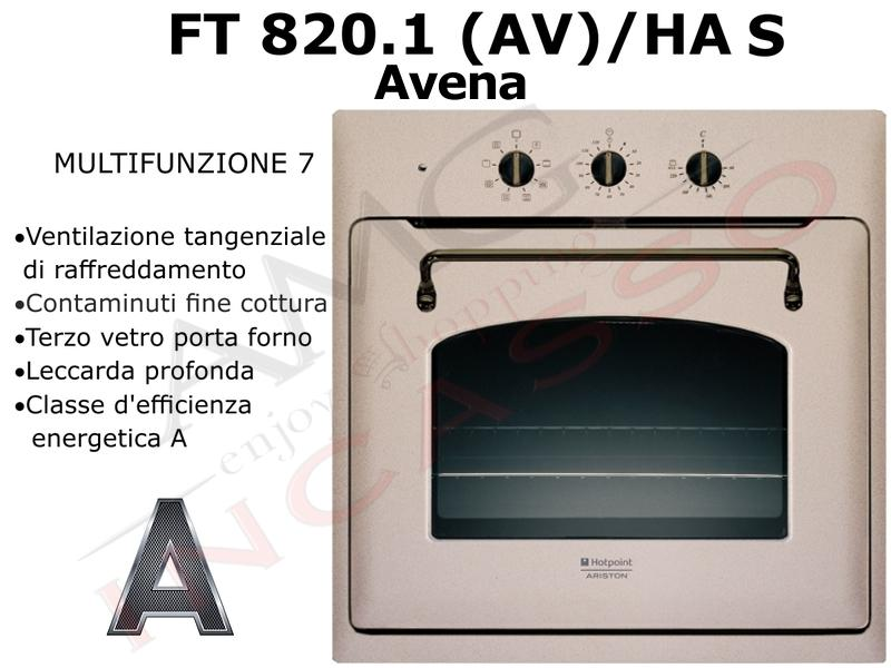 Forno Hotpoint Ariston FT 820.1 (AV)/HA S FT 8201(AV)HA S F080566 A ...