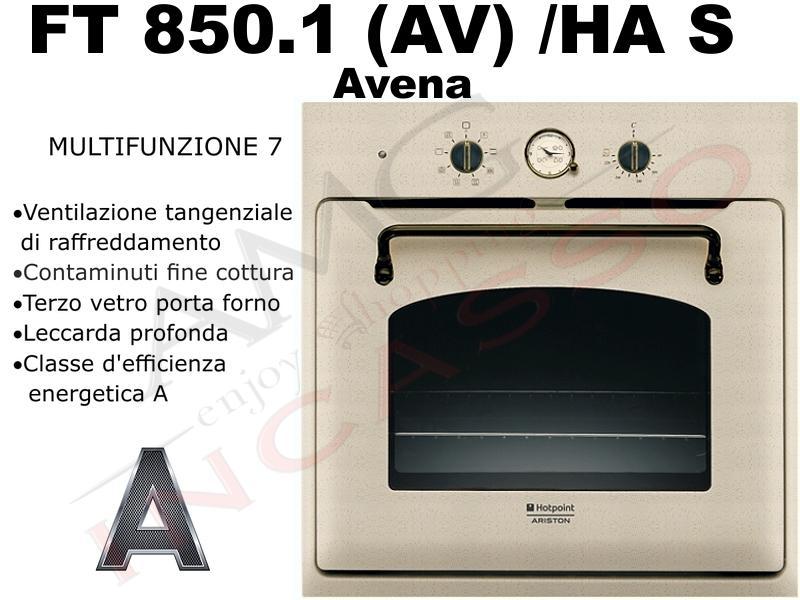 Forno hotpoint ariston ft 850 1 av ha s ft850 1 av has - Forno a incasso ariston ...