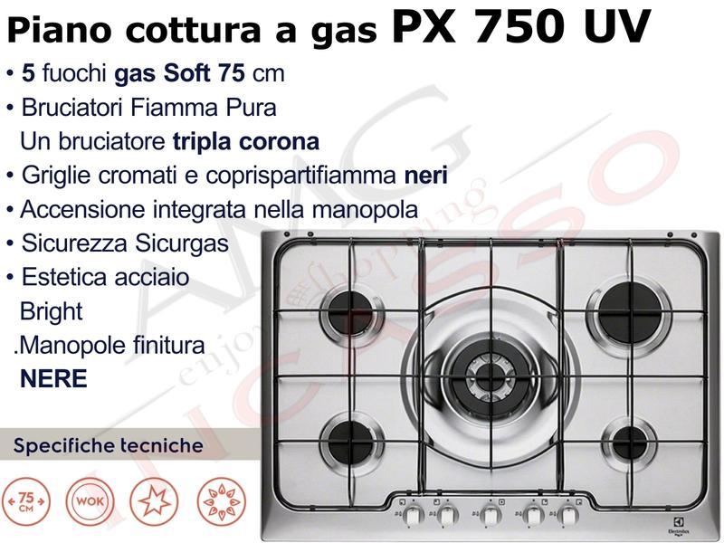 Piano Cottura 75 Electrolux Rex Linea Soft PX 750 V PX 750 UV 5 ...