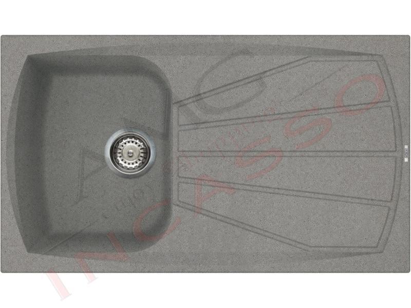 Lavello Cucina 1 Vasca cm.86X50 Living Metaltek® M73 Titanium | AMG ...