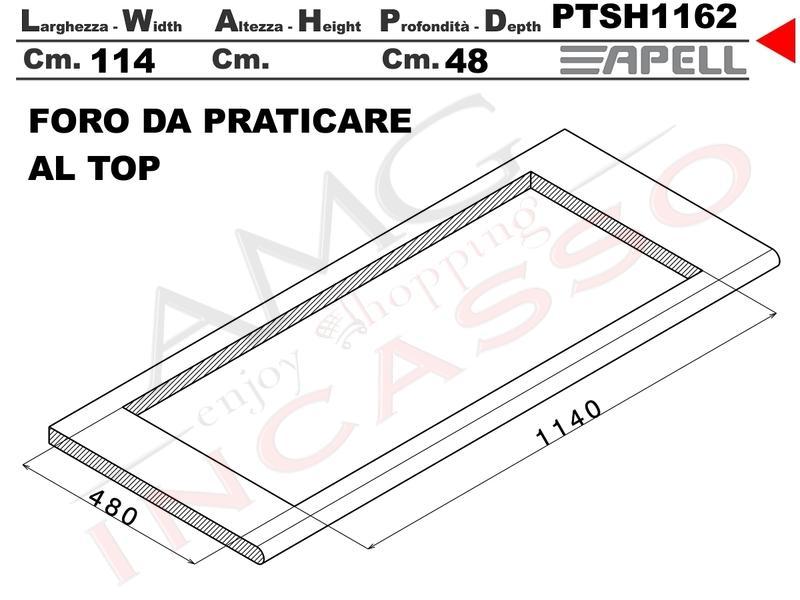 Lavello fragranite incasso cucina apell ptsh1162go cm for Foro areazione cucina