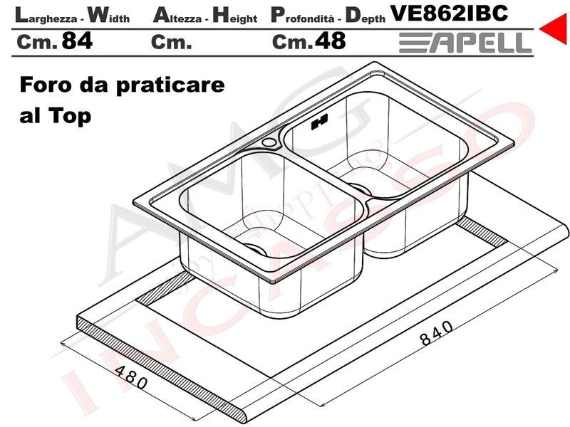 Misure Lavello Cucina Doppio.Lavandino Cucina Misure Standard Affordable Free Dimensioni Tavoli