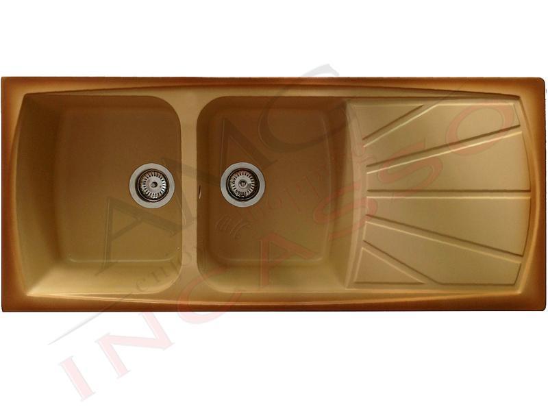Lavello Cucina 2 Vasche Living Granitek S12 Terra Di Francia Amg Incasso