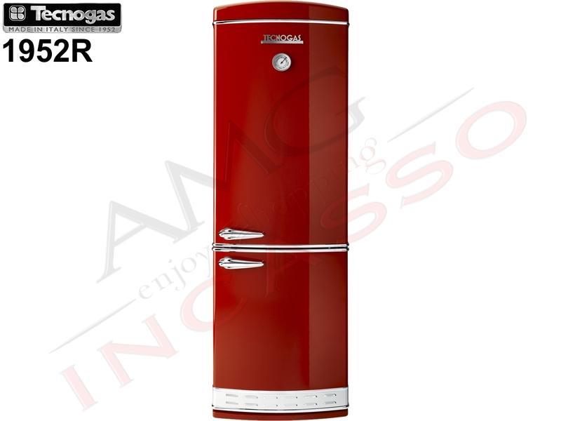Frigorifero combinato tecnogas 1952 190x60 1952bw no frost for Frigoriferi rossi