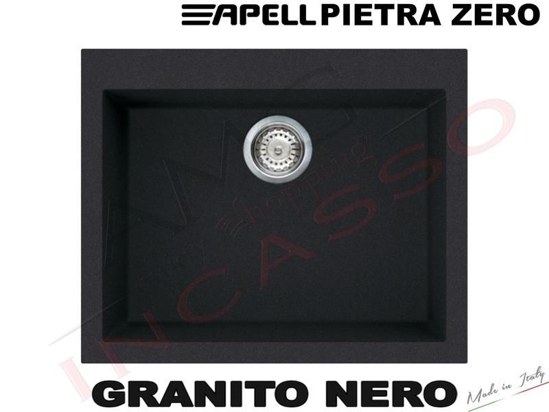 Lavello Fragranite Incasso Cucina Apell Pietra 61X50 1 Vascone BT Bianco Titano