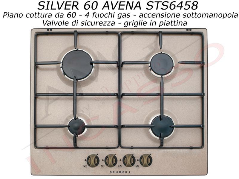 Offerta Promozionale !!! Piano Cottura Cucina Silver cm.60 4 Fuochi ...