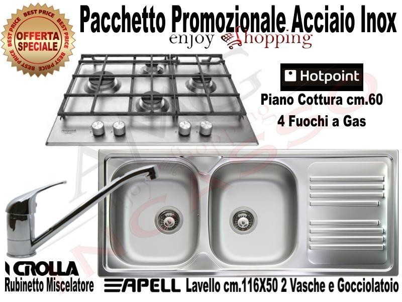 OFFERTA PROMOZIONALE!!! Pacchetto Inox: Piano Cottura cm.65 ...