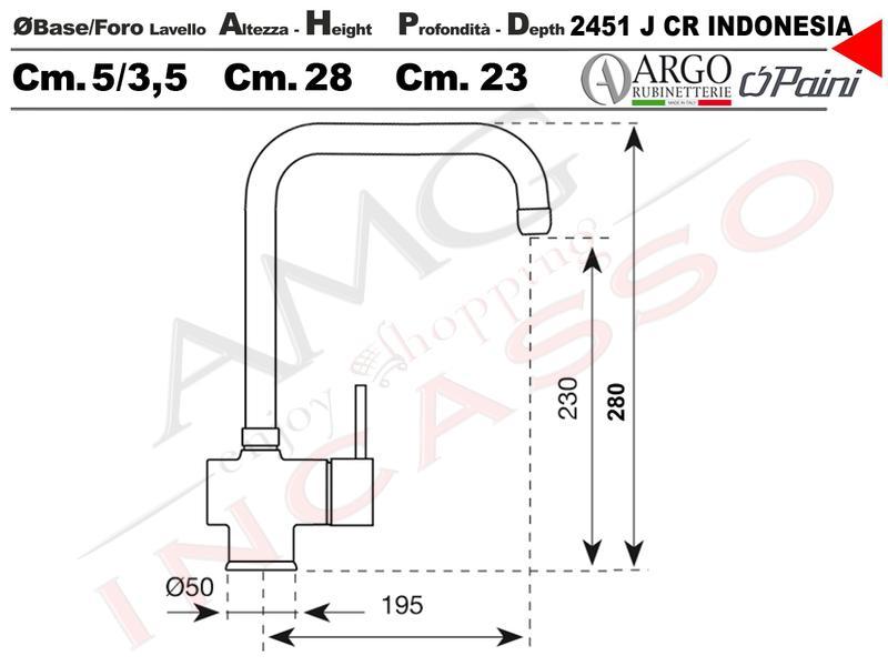 rubinetto miscelatore monocomando canna alta indonesia cromato ... - Muro Angolo Di Montaggio Lavello Singolo Foro Rubinetto