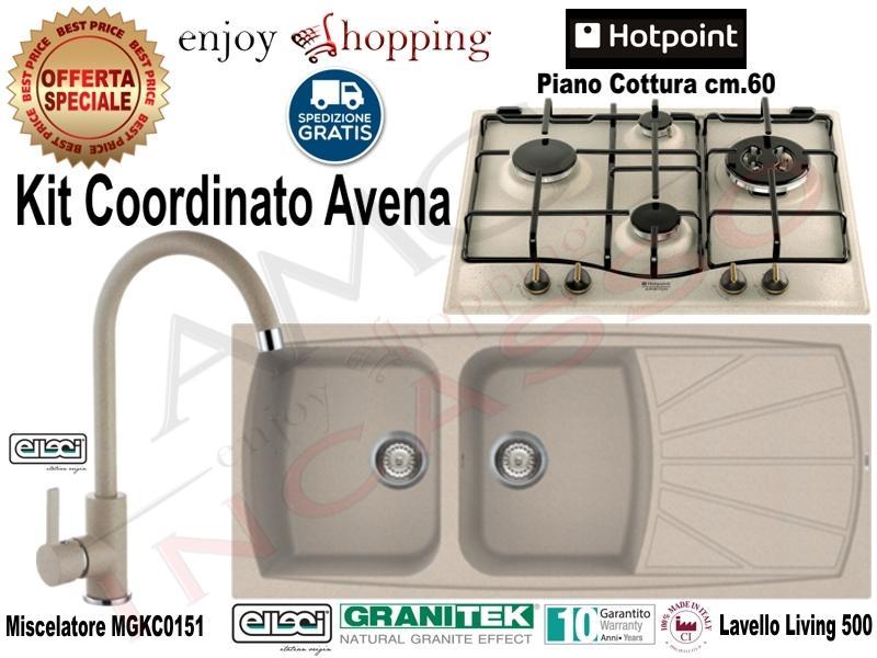 Kit avena lavello lgl50051 116x50 2v e gocc miscelatore mgkc0151 piano cottura pc640t av r - Lavello cucina avena ...