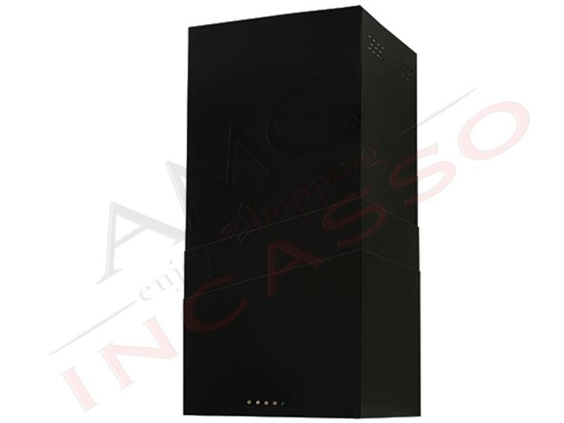 Cappa cucina parete moderna 42 5 td023nr tower verniciata nero amg