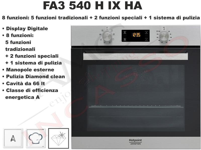 Forno Hotpoint Ariston Class 3 FA3 540 H IX HA F095892 Classe A ...