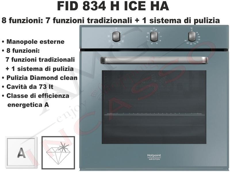 Forno Linea Diamond FID 834 H ICE HA F102078 Classe A Vetro Ice ...