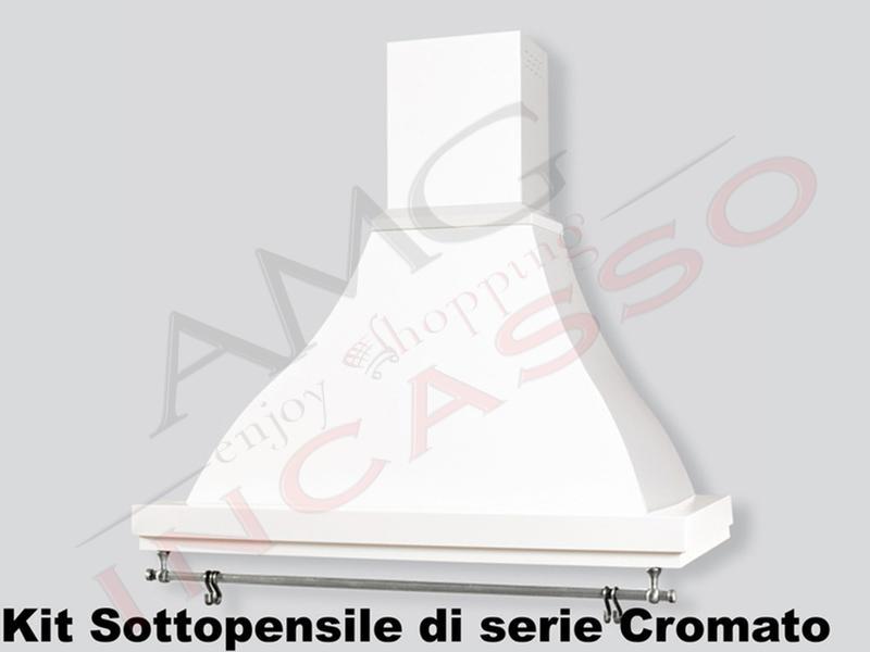 Cappa Cucina Parete Rustica Sirio 60 struttura bianca Sottopensile ...
