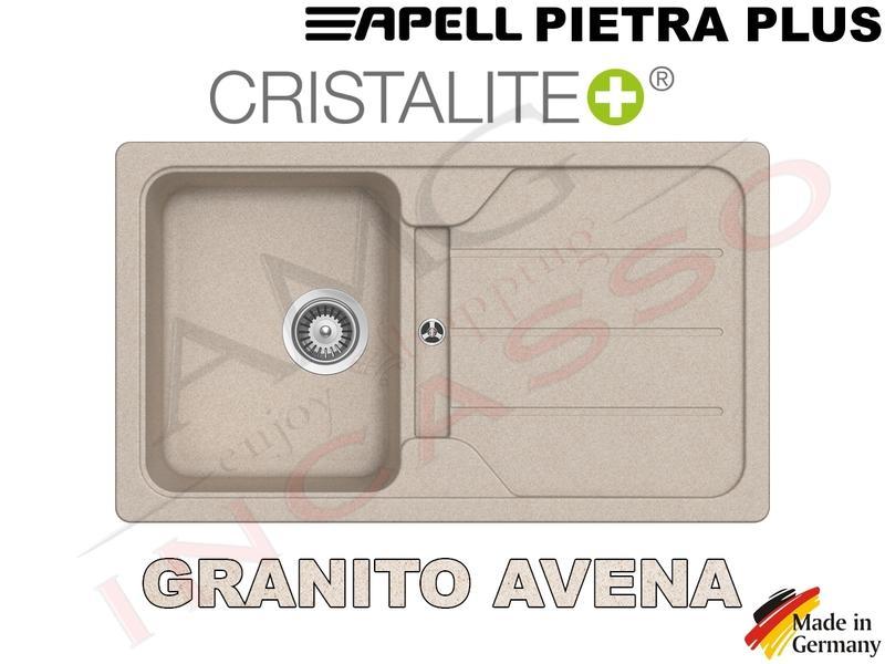 Lavello Cucina Pietra Plus cm.86X50 1 Vasca e Gocciolatoio Avena ...