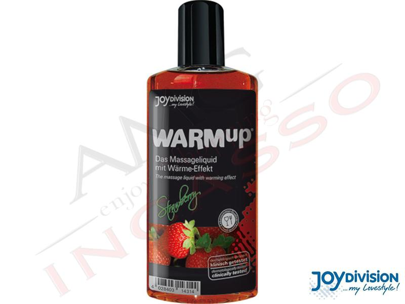Olio Gel Massaggio Lubrificante Commestibile Warmup Fragola