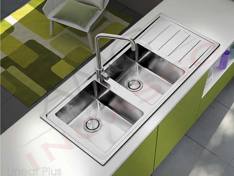 Lavello Cucina Filotop Linear Plus 1 Vasca cm.77X51 Acciaio | AMG ...