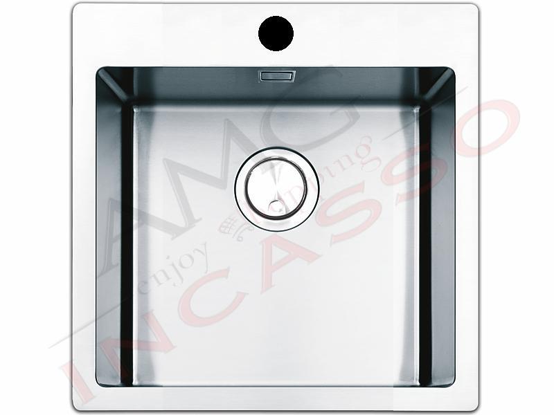 Lavello Cucina Filotop Linear Plus 1 Vasca cm.56X51 Acciaio | AMG ...