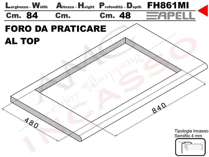 Piano cottura tecnogas moderno f32vx 2 fuochi ae vs - Valvola sicurezza piano cottura ...