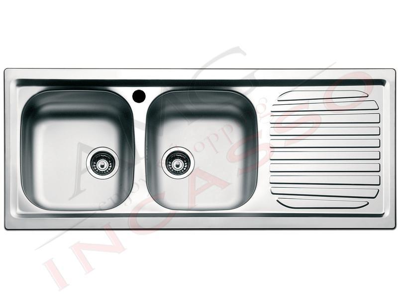 apell crema  Lavello Apell Firenze 116X50 2V SX e Goc. DX Acciaio Prelucido   AMG ...