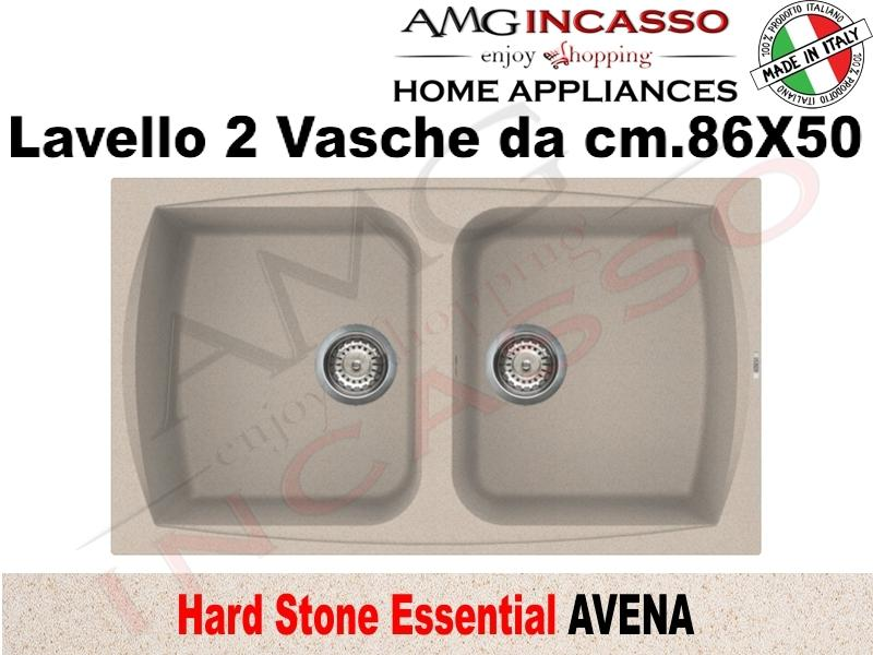 Lavello Cucina Essential 2 Vasche cm.86X50 Fragranite Avena