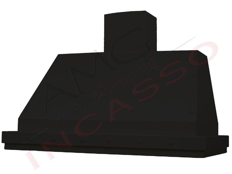 Cappa Parete Arredamento Moderna 80 TD0307NR Multipla Verniciata Nero