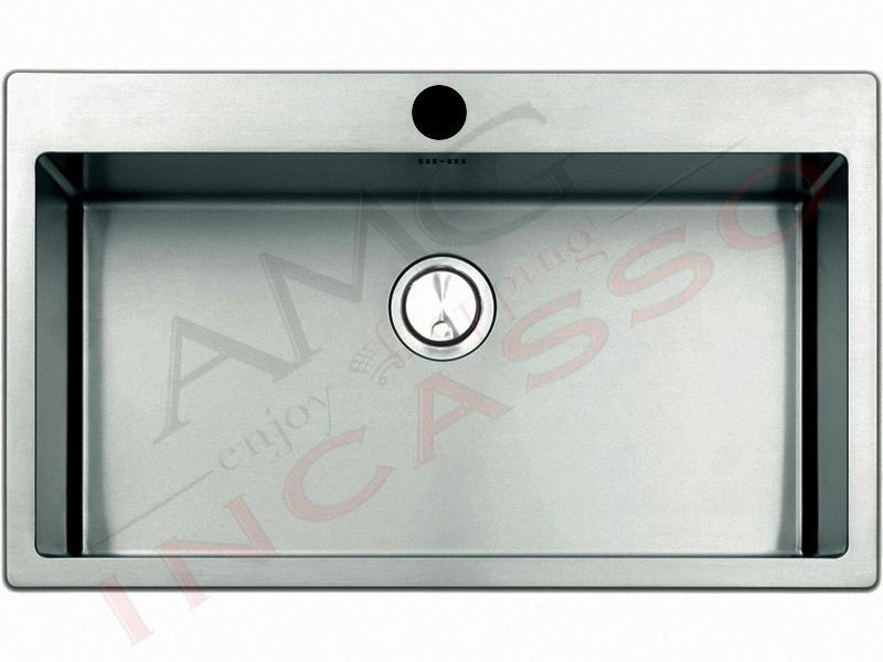 Lavello Cucina Filotop Linear Plus 1 Vasca cm.77X51 Acciaio - AMG ...